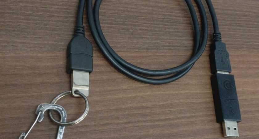New USB cable kills Linux laptop whenever taken in a public place